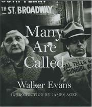 Cover of: Many Are Called (Metropolitan Museum of Art Series) | Walker Evans