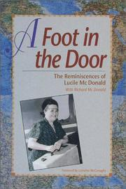 Cover of: A foot in the door | Lucile Saunders McDonald