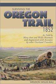 Cover of: Surviving the Oregon Trail, 1852