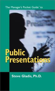 Cover of: The manager's pocket guide to public presentations