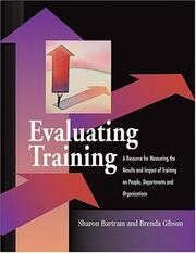 Cover of: Evaluating Training | Sharon Bartram