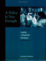 Cover of: A Policy is Not Enough