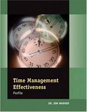 Cover of: Time Management Effectiveness Profile Facilitator's Guide