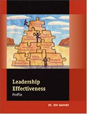 Cover of: Leadership Effectiveness Profile Facilitator's Guide
