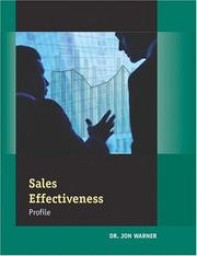 Cover of: Sales Effectiveness Profile (Packet of 5)