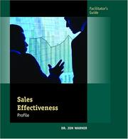 Cover of: Sales Effectiveness Profile Facilitator's Guide