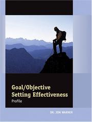 Cover of: Goal/Objective Setting Profile: Packet of 5