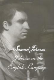 Cover of: Johnson on the English language