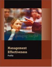 Cover of: Management Effectiveness Profile: Packet of 5