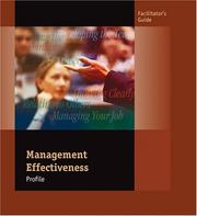 Cover of: Management Effectiveness Profile Facilitators Guide