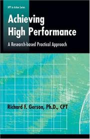 Cover of: Achieving High Performance