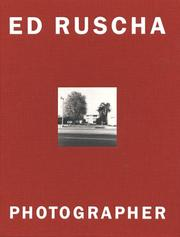 Cover of: Ed Ruscha, photographer