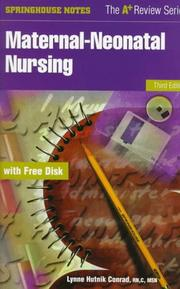 Cover of: Maternal-neonatal nursing
