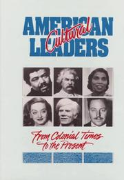 Cover of: American cultural leaders