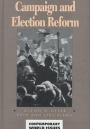 Cover of: Campaign and election reform
