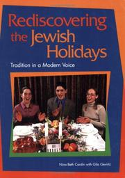 Cover of: Rediscovering the Jewish Holidays: Tradition in a Modern Voice