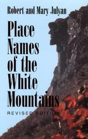 Cover of: Place names of the White Mountains | Robert Hixson Julyan