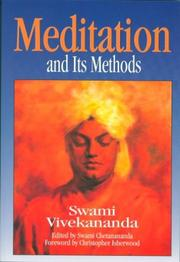 Cover of: Meditation and its methods according to Swami Vivekananda