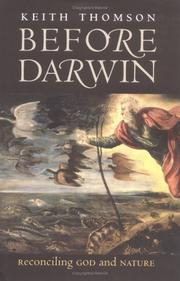 Cover of: Before Darwin | Keith Stewart Thomson