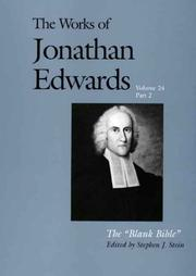 Cover of: The blank Bible | Jonathan Edwards