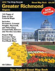Cover of: ADC Greater Richmond, Virginia | the Map People ADC