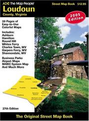 Cover of: Loudoun County, Va Atlas | the Map People ADC