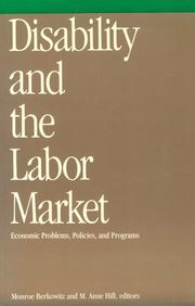 Cover of: Disability and the Labor Market | Monroe Berkowitz