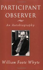 Cover of: Participant observer | Whyte, William Foote