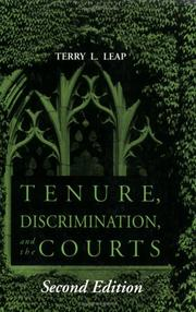 Cover of: Tenure, discrimination, and the courts
