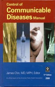Cover of: Control of Communicable Diseases Manual | James E. Chin
