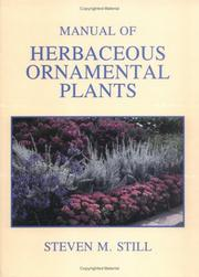 Cover of: Manual of Herbaceous Ornamental Plants | Steven M. Still