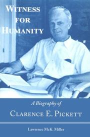 Cover of: Witness for humanity