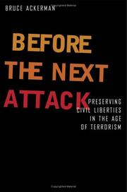 Cover of: Before the next attack