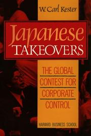 Cover of: Japanese Takeovers | W. Carl Kester