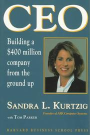 Cover of: CEO | Sandra L. Kurtzig