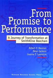 Cover of: From promise to performance | Bauman, Robert P.