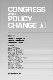 Cover of: Congress and policy change