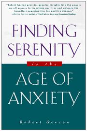 Cover of: Finding Serenity in the Age of Anxiety