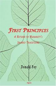 Cover of: The first principles