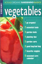 Cover of: Vegetables | Organic Gardening Magazine Editors