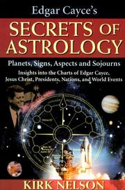 Cover of: Edgar Cayce's secrets of astrology