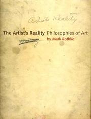 Cover of: The Artist's Reality