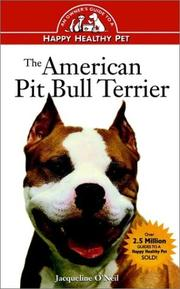 Cover of: The American pit bull terrier