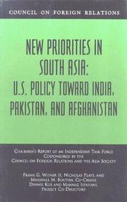 Cover of: New priorities in South Asia
