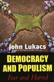Cover of: Democracy and Populism