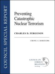 Cover of: Preventing Catastrophic Nuclear Terrorism