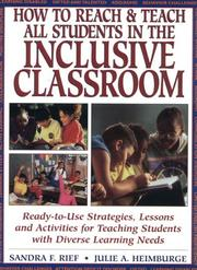 Cover of: How to reach & teach all students in the inclusive classroom