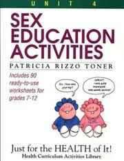 Cover of: Sex education activities | Patricia Rizzo Toner
