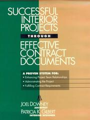 Cover of: Successful interior projects through effective contract documents | Joel Downey