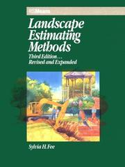 Cover of: Landscape estimating methods | Sylvia Hollman Fee